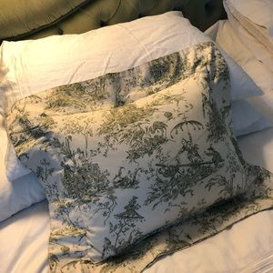 Other - Pair of Toile Rectangular Down Decorative Pillows